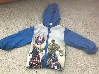 Marvel Boys SE1350 Avengers Lightweight Jacket and Pouch