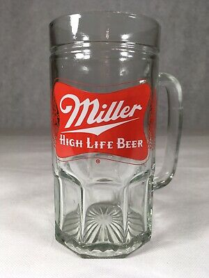 Miller High Life Beer Mug Large Huge Glass