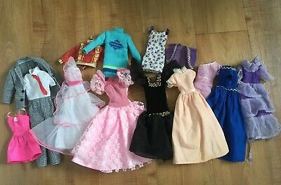 Lot of 14 Barbie Doll Clothes 14 Pieces Ken Suit Pink Dresses Handmade