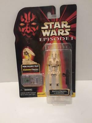 Star Wars Episode 1 Battle Droid With Blaster Rifle & Commtech Chip 1998 Nip