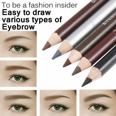 Leopard-printed long-lasting brown eyeliner pen eyebrow pencil is not blooming