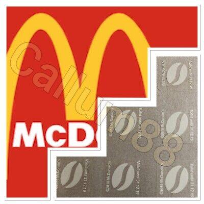 900 X McDonalds Style Coffee Bean Loyalty Stickers 31/12/19 expiry
