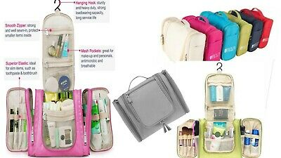Hanging Toiletry Bag Travel Cosmetic Kit - Large Essentials Organizer