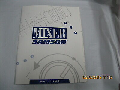 mixer mpl 2242 mixer manual 2242 user operating manual