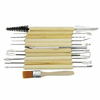 Set Of 12Pcs Pottery Tool Kit For Sculpting Ceramic Polymer Clay Carving Modelli