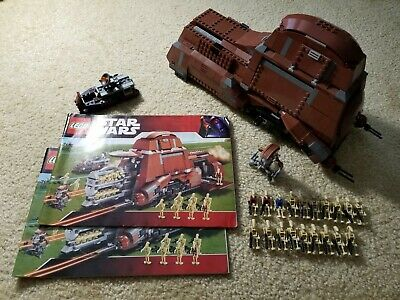 LEGO STAR WARS Trade Federation MTT 7662 100% Complete with Manuals