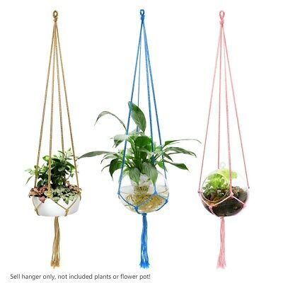 Basket Ceramic Planter Hanging Tool Rural Life Balcony Pot Hanger Room Decor A1