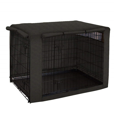 QCWN Dog Crate Cover for Wire Crates, Polyester Durable Windproof Pet Kennel 36
