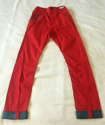 NEXT Boys 12 Years £17.00 Red Slim Fit Summer Chino Trousers NEW With Tags 11 13