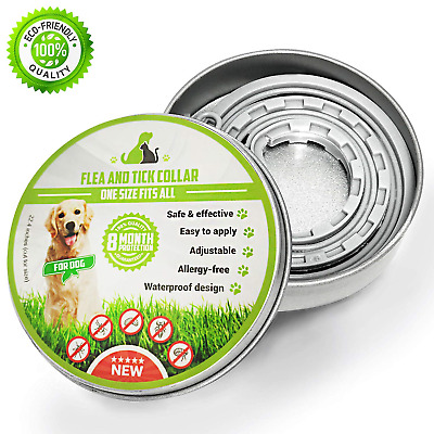 PROZADA [New Formula] Flea and Tick Collar for Dogs Waterproof, Anti Flea Collar