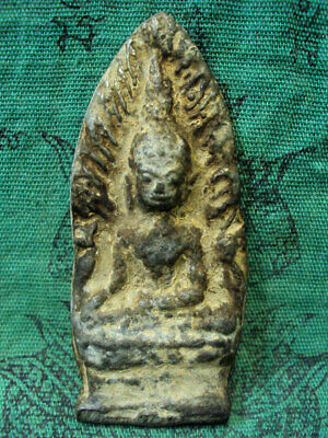 Phra Chiang Saen Ancient Buddha Talisman Old Mantra Thai Buddhist Amulet Rare