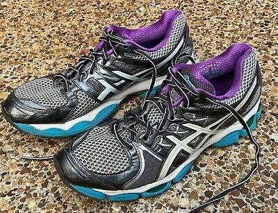 WOMENS ASICS GEL Forte Size 11 Gray Purple Running Walking