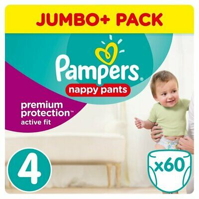 Pampers Active Fit Pull Up Pants 8-14kg (60 Pants)
