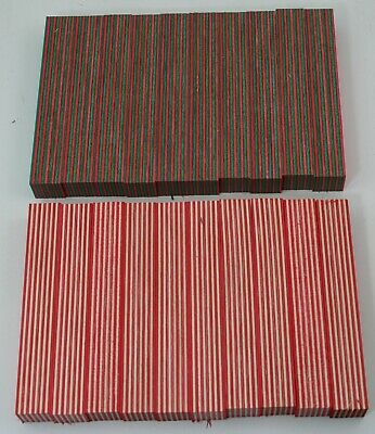 "20 Christmas Colors Red/White Red/Green Laminated Pen Blanks 3/4""x 3/4""x5"" CH-1"