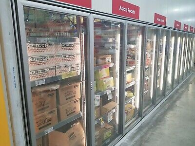Coolroom Display Glassdoors x8 Frame And Racking