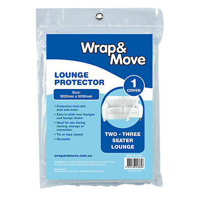2x Wrap & Move PROTECTOR COVERS Fits Standard 2-3 Seat Lounges *Australian Brand