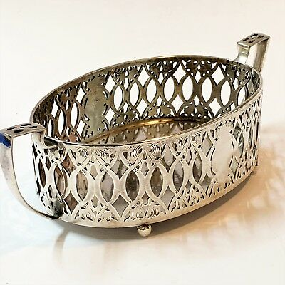 Knickerbocker Silver Co, USA - Art Nouveau Silverplate Galleried Handled Bowl