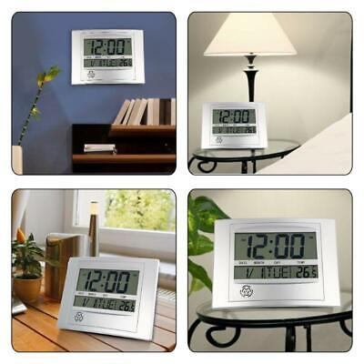 Lcd Digital Wall Clock With Thermometer Electronic Temperature Meter Calend