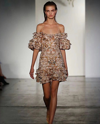 ae1531d93810d ZIMMERMANN PAINTED HEART Folds Dress RRP$1600 - $330.00 | PicClick