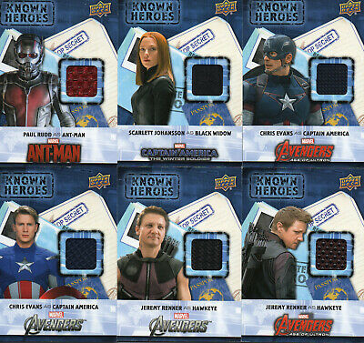 2016 Marvel Captain America Civil War 12 different Known Heroes Costume Relic KH