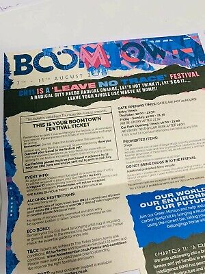 2 Boomtown 2019 Ticket Wednesday Entry, 7th August- 11th Of August