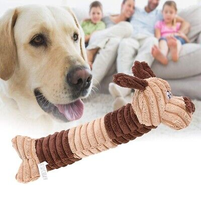 Cute Cartoon Animal Shape Pet Puppy Plush Sound Toy Squeaker Squeaky Play Toys T
