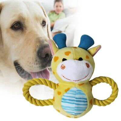Pet Dog Squeak Toy with Rope Handle or Interactive Play Best for Puppies I5A6