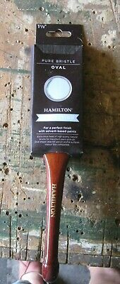 """2 x 1.5"""" HAMILTON PERFECTION Pure Bristle OVAL Paint Brushes,solvent based paint"""