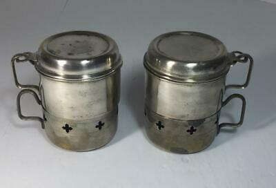 Pair Vintage Metal Single Cup Coffee Makers w/ Filter/Percolator & Cup Camping
