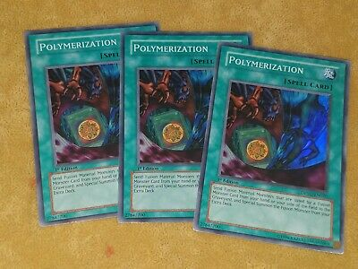 X3 Playset Polymerization Mixed Sets 1st Edition Common Yugioh Card