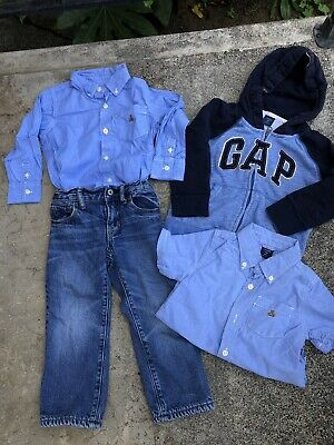 Baby GAP Boys Size 3T lot of (4) 1 fleece lined jeans, 1 GAP hoodie, 2 shirts