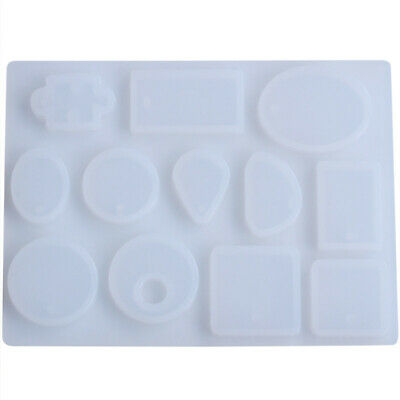 12 Designs Cabochon Silicone Mold Necklace Pendant Resin Jewelry Making Mou