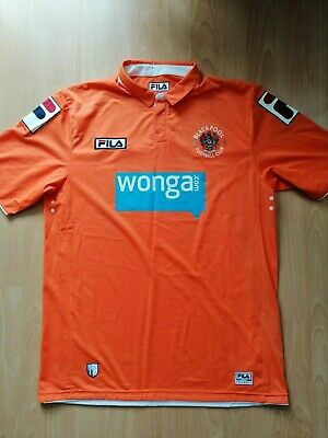 Blackpool 2011 2012 2013 Home Football Jersey L Large Shirt Fila Wonga Orange