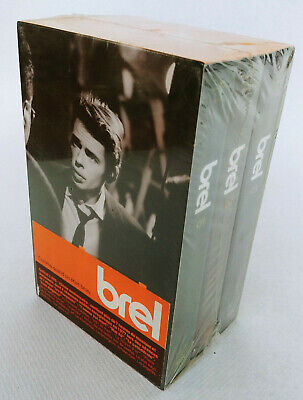Coffret 3 Vhs Jacques Brel Neuf Sous Blister Cassette Video