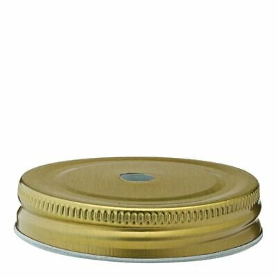 """Gold Lid 2.75"""" (7cm) - with Straw Hole"""