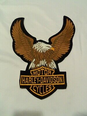 "Harley-Davidson Brown Up-wing Eagle Patch 10 1/2 x 7 3/4 "" LG"