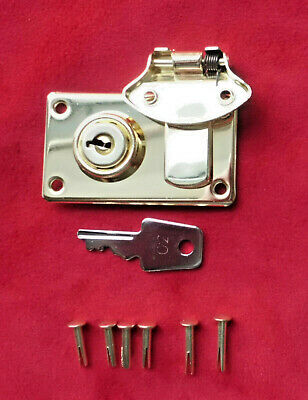Cheney Type Lock/Latch-BRASS- for Fender Strat/Tele/Bass cases-with rivet set