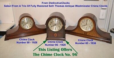 Fully Restored Seth Thomas Chime 96 - 1928 Westminster Chimes Antique Clock