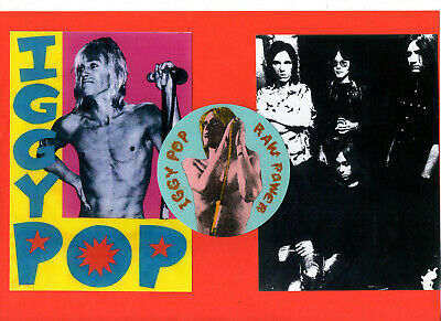 IGGY POP & the STOOGES. STICKER & 2 POSTCARDS.