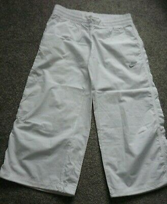 NIKE girls white cropped sports/casual trousers size XL(13-15 yrs) BNWT
