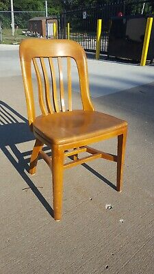 Southwestern Bell Antique Wood Banker's Library Office Desk Johnson Chair Co