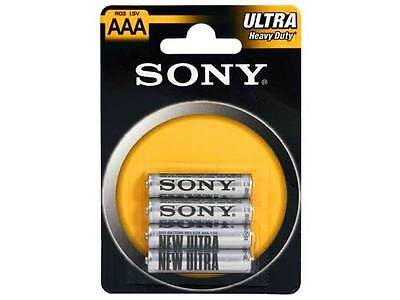 SONY 4 Piles AAA R03 ULTRA CARBON