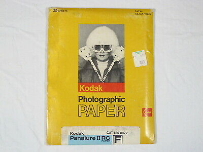 Kodak Panalure II RC Paper F, 25 – 5X7 Sheets, New Unopened, Expired 08/1983