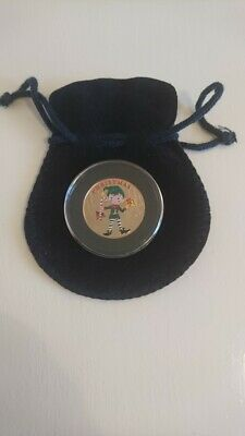 Isle Of Man 2016 Christmas Elf Coloured Virenium  Coin / Medal.