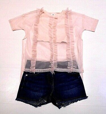 River Island Top & Next Shorts Age 5-6 & 6 Years