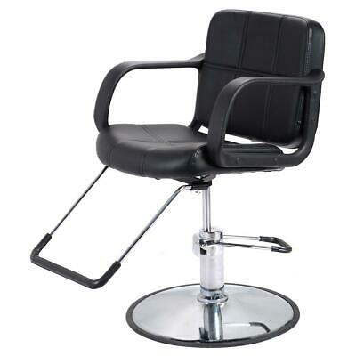 NEW Black Faux Leather Barber Salon Hairdressers Adjustable Hydraulic Chair