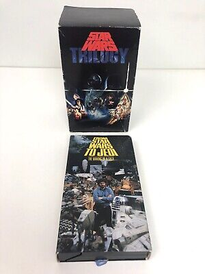 Star Wars Trilogy Box Set Vhs (1992) Theatrical Versions +The Making Of A Saga