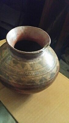 Pre Columbian Brown & Black Pottery Bowl