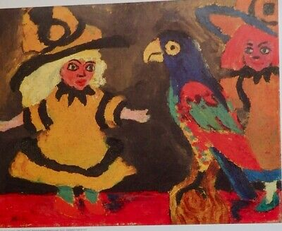 Emil Nolde, Dolls and Parrot c 1919. German Expressionism Exhibition.