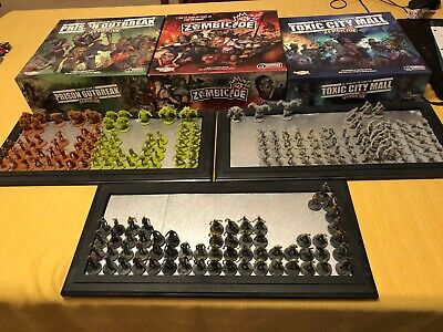 Zombicide complete season 1 2 3 + ALL Kickstarter exclusives +painted walkers